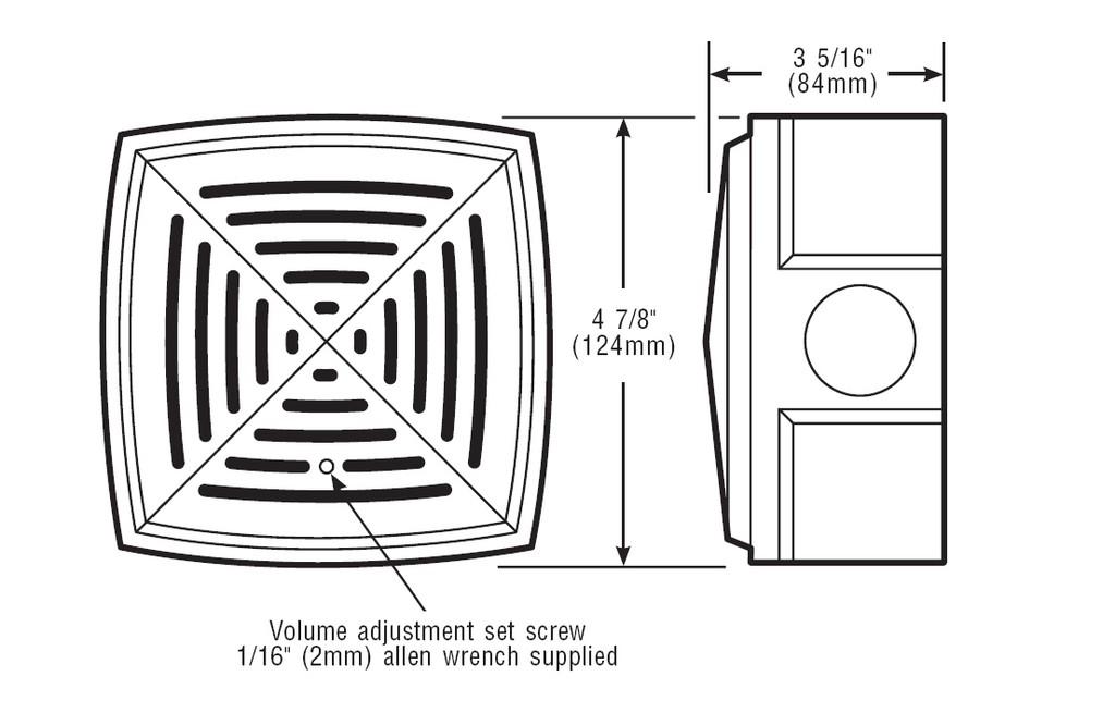 edwards signaling   877 series adaptahorn grille