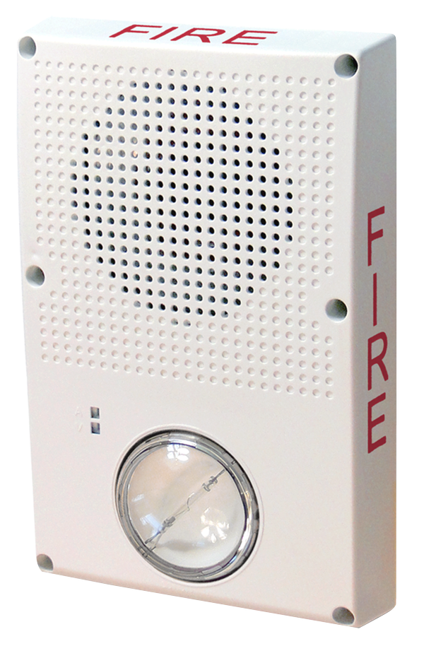 Index on fire alarm horn strobe ceiling mount