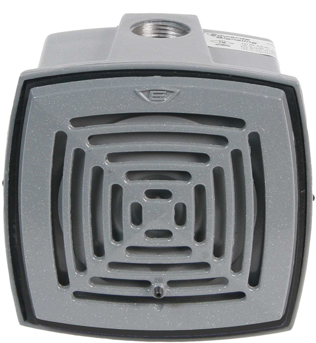 EDW876-N5 LOW-CURRENT, HIGH DECIBEL, AC VIBRATING HORN FOR HEAVY-DUTY USE AND IS UL LISTED TO NEMA 4X ENCLOSURE REQUIREMENTS. THE DIE-CAST WEATHERPROOF BOX HAS A DURABLE, CORROSION RESISTANT, ELECTROSTATIC HEAT FLOWED POWDER EPOXY GRAY FINISH. MAY BE USED FOR INDOOR APPLICATIONS., EDWARDS